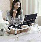 Столик подставка для ноутбука с кулером E-Table раскладной складной столик для планшета с охлаждением, фото 7