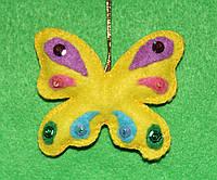 Игрушка из фетра ручная работа Бабочка  2516