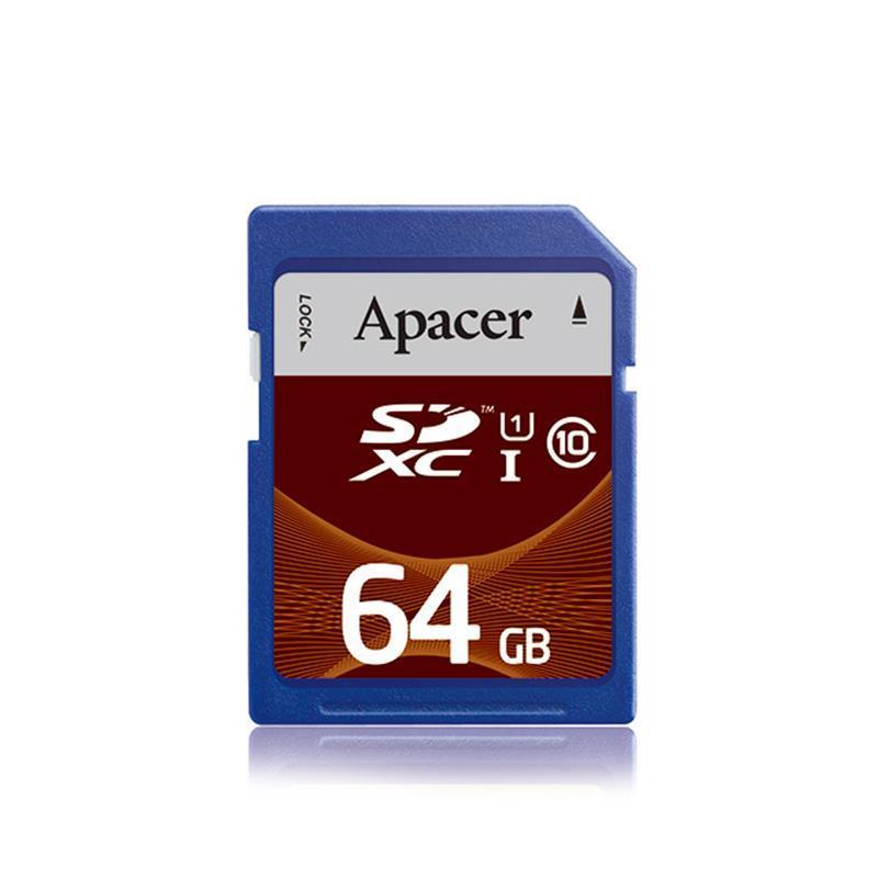 Карта памяти SDXC  64GB UHS-I Class 10 Apacer (AP64GSDXC10U1-R)
