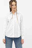 Идеально белая хлопковая рубашка женская размер 42-48