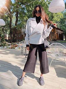 Модная женская куртка-косуха из экокожи на замше 42-46 р
