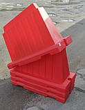 Дорожный пластиковый барьер 1.2 (м), фото 2
