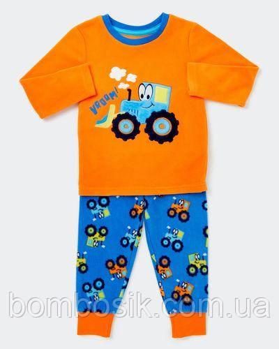 Пижама флисовая Dunnes для мальчика, 12-18м (80-86см)