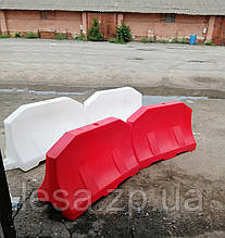 Дорожній бар'єр водоналивной пластиковий білий 1.2 (м)