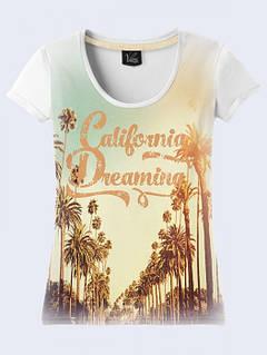 Женская Футболка Мечты о Калифорнии