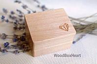 Деревянная коробочка для сережек, украшений