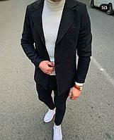 Чоловіче стильне кашемірове пальто-піджак