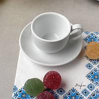 Чашка біла для еспресо Horeca  HLS Чашка 90 мл + блюдце (HR1316)