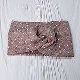 """М 93552. Повязка на голову """"мелкий горошек"""" для девочки двойная Vivatricko,от 1-10 лет, разные цвета, фото 8"""