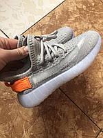 Кроссовки детские Adidas Yeezy Boost 350 v2 Gray, размеры 31-37