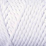 Yarnart Macrame Rope 3 мм № 751 білий ( Ярн Арт макраме Рвп 3 мм пряжа, нитки для в'язання)