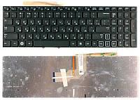 Клавиатура для ноутбука Samsung (RF712) с подсветкой (Light), Black, (No Frame), RU