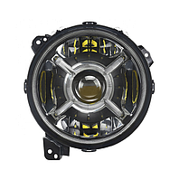 Фари передні 9 дюймів Full LED Jeep Wrangler JL 2018 - Black Bezel