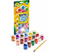 Смываемые краски 18 цветов Washable Kid´s Paint Assorted Colors