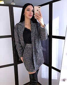 Женский модный костюм с короткой юбкой из букле 42-44 р