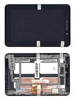 Матрица с тачскрином (модуль) для Lenovo IdeaPad A1-07 черный с рамкой