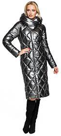 Фирменная женская куртка цвет темное серебро модель 31031 (ОСТАЛСЯ ТОЛЬКО 40(3XS))