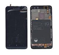 Матрица с тачскрином (модуль) Lenovo P770 черный с синей рамкой
