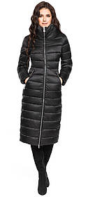 Черная куртка женская приталенная модель 31074