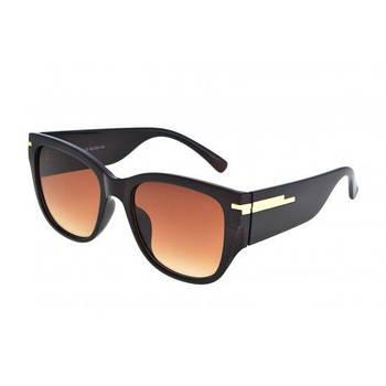 Очки женские солнцезащитные *6630 Luoweite С1 черные Коричневый
