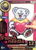 PN-01-06  Набор для ковровой вышивки «Белый мишка с сердечком»
