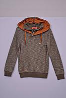 Л-17 Джемпер для хлопчика, бомбер, кофта, светр, реглан коричневий, 158 і 164 зростання