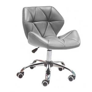 М'яке офісне крісло Стар-Нью хром-коліщата сіре сидіння для перукарських салонів