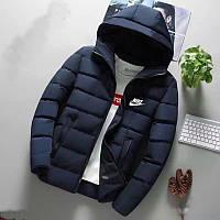 Чоловіча стильна куртка на синтепоні з капюшоном