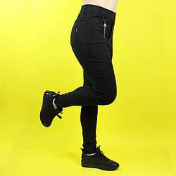 Лосіни жіночі стильні облягаючі чорні ТМ Метелик M, L