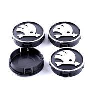 Ковпачки заглушки на литі диски Skoda 60/55мм, фото 1