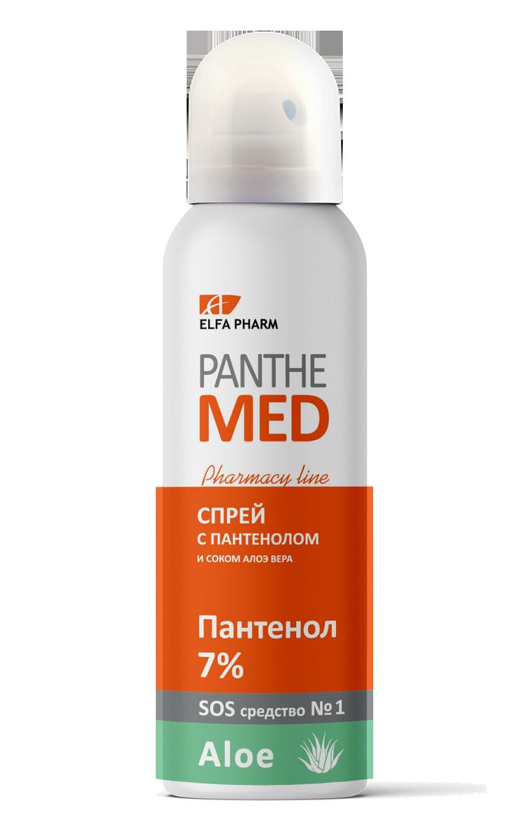 Спрей с пантенолом и соком алоэ вера Panthe Med 150мл