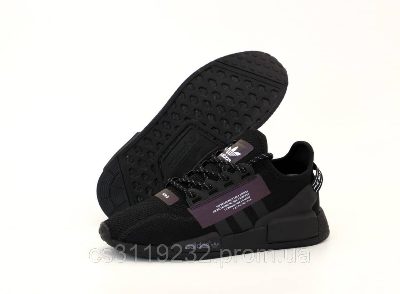 Мужские кроссовки Adidas NMD R1 V2 (черные)