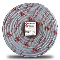 ElectroHouse Кабель RG-6U 100% CCS 1,02 Мідна гермет. Фольга 128 м. Живий ПВХ / білий