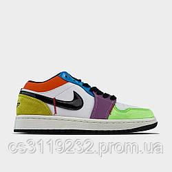 Женские кроссовки Air Jordan 1 Low Multicolor (мультиколор)