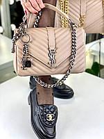 Модная сумочка SAINT LAURENT беж (реплика), фото 1