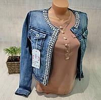 Куртка джинсовая женская, XS,S,M,L,XL,2XL pp, № 174181