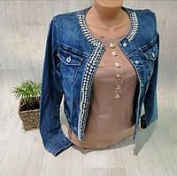 Куртка джинсовая женская, S,M,L,XL pp, № 174181-1
