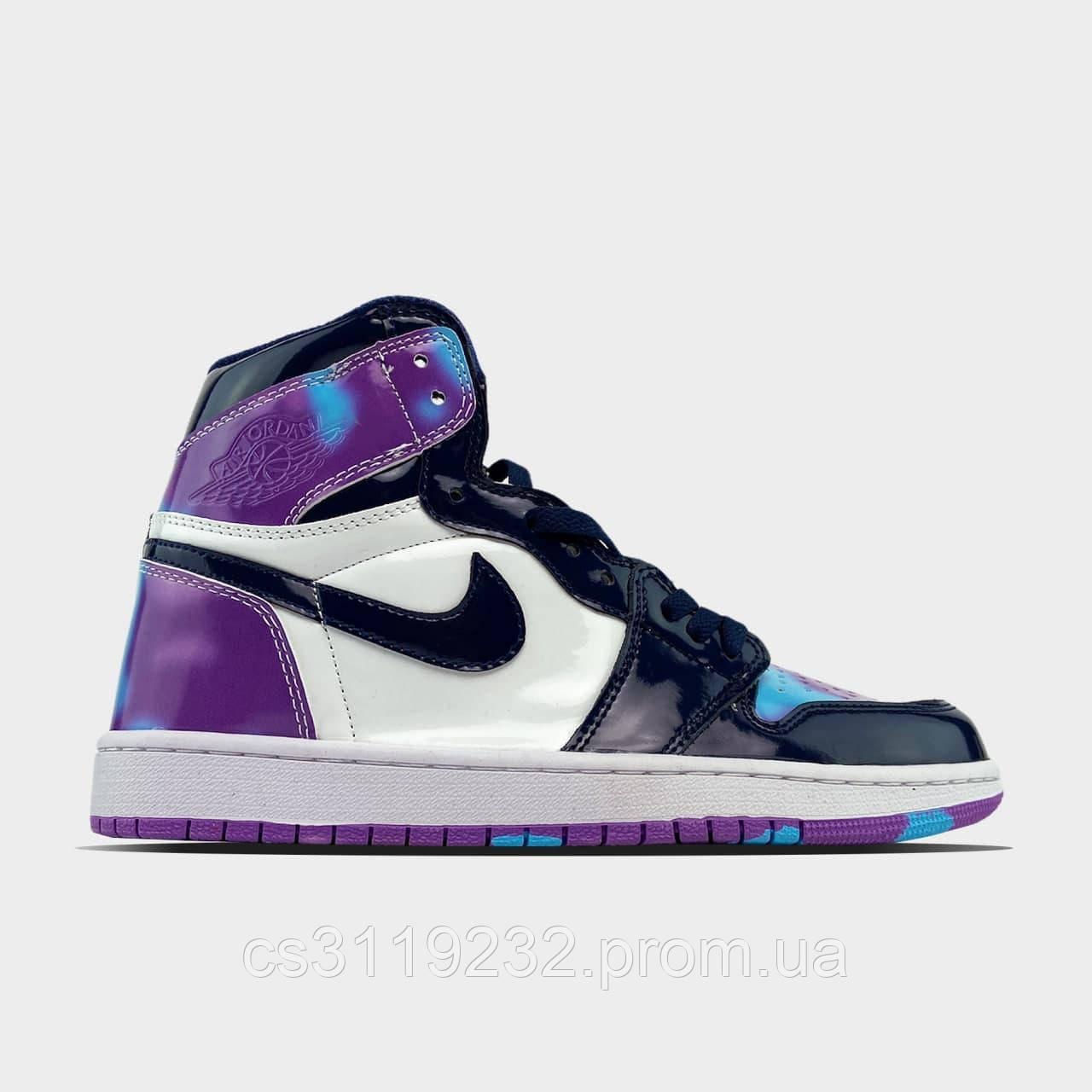 Жіночі кросівки Nike Air Jordan 1 Purple White (білий/фіолетовий)