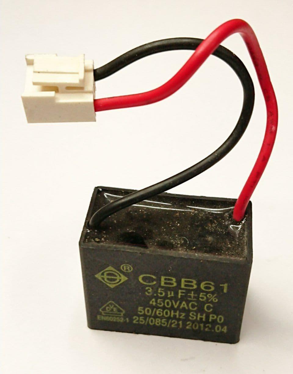 Пусковой конденсатор CBB61  3,5 мкФ 450W б.у.