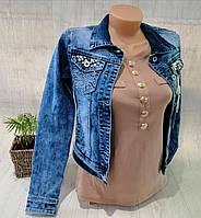 Куртка джинсовая женская, XS,S,M pp, № 135649