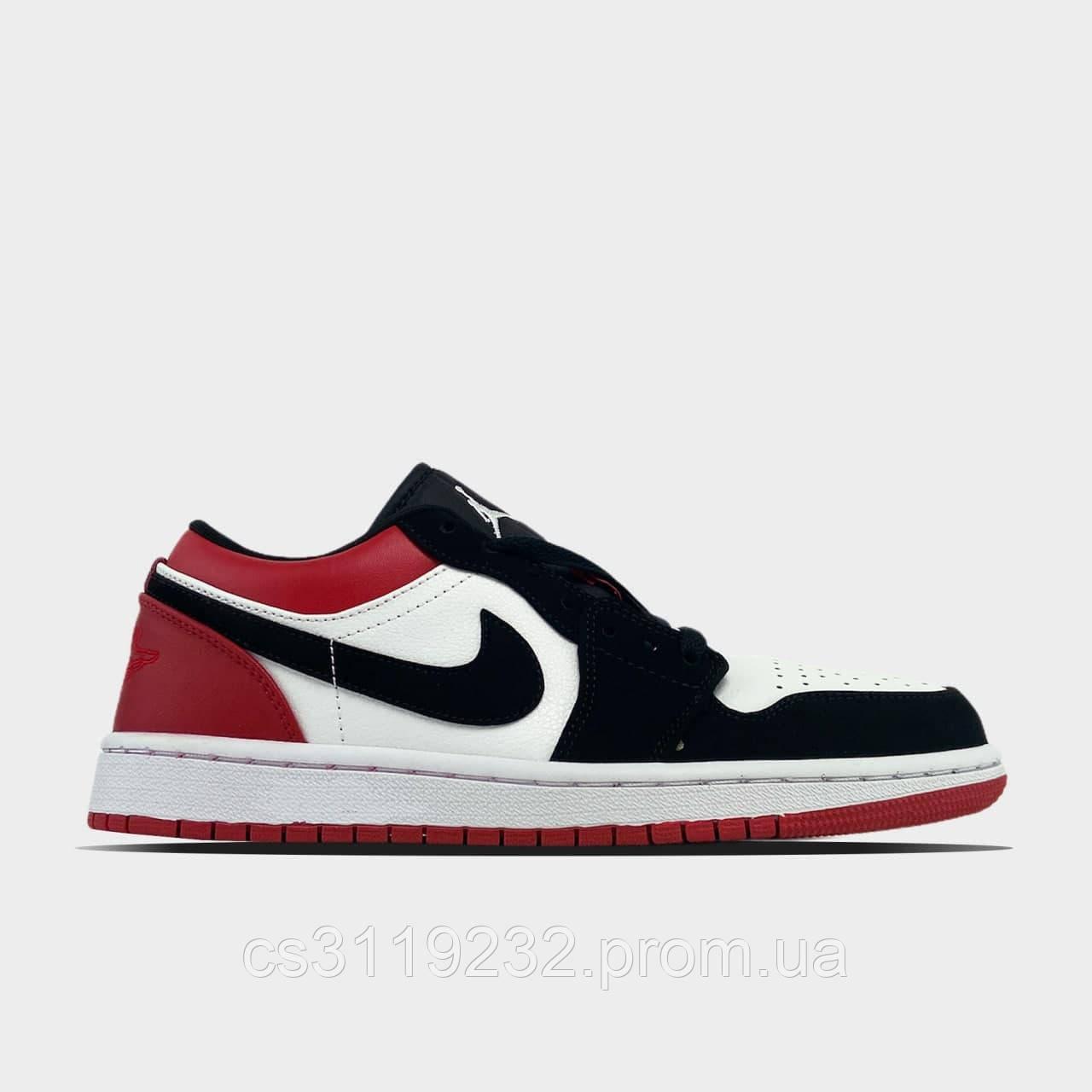 Мужские кроссовки Nike  Air Jordan 1 Low Red White(красный)