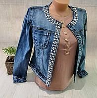 Куртка жіноча джинсова, S,XL pp, № 120157