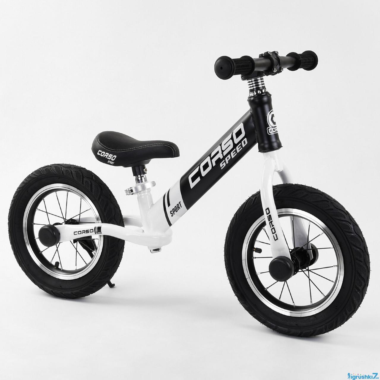 Велобег CORSO 10234  стальная рама колесо 12 надувные колёса