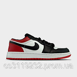 Женские кроссовки Air Jordan 1 Low Red Black (черный/красный)
