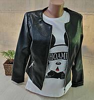 Куртка кожзам женская, S,L,2XL pp, № 163000