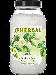 Соль для ванн Aroma Inspiration Sensual bliss с маслами эвкалипта и пачули O'Herbal  1100 г