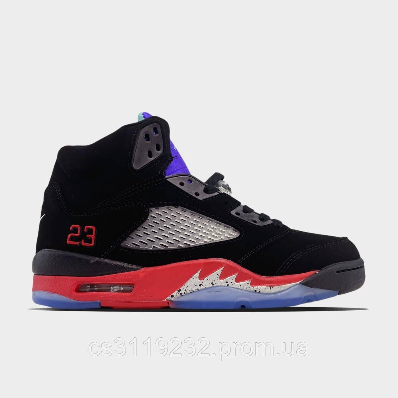 Мужские кроссовки Air Jordan 5 Retro Top 3 (черные)
