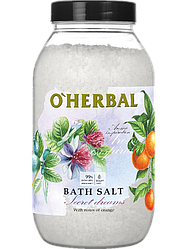 Соль для ванн Aroma Inspiration Secret Dreams с маслом апельсина и пачули O'Herbal  1100 г