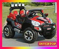 Детский электромобиль Джип на аккумуляторе с пультом JEEP TRIUMF 801 красный. Для детей 2-8 лет