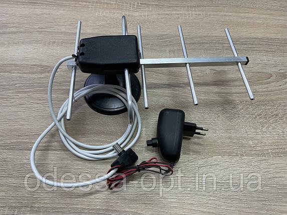 Антена кімнатна ДМВ (хвиля) з підсилювачем, фото 2